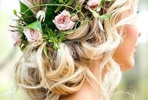 wedding hairstyles & nails & make up
