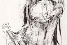 manga,illustration bw