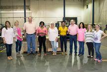 Breast Cancer Awareness October 2016 / Vulcan employees working on raising awareness for Breast Cancer Awareness month.