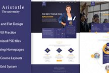 ARISTOTLE – Appealing Modern Education PSD Template / Aristotle is a clean and professional PSD template for education websites or institutes. Everything is clear and easy to customize when Aristotle is well organized in set PSD files. It can be used for a school, library, training center or even private instructors, tutors…