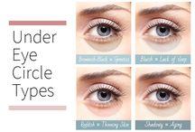 black circles under eyes