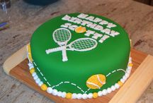 Tennis cakes, cookies and cupcakes