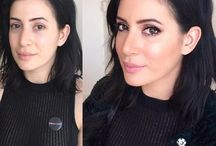 Befor and after makeup artist mika iatrou rhodes greece