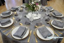 Gold and grey wedding theme