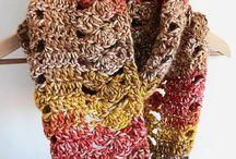 Bufandas, gorros, slippers crochet
