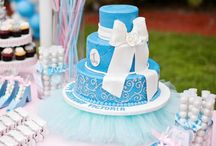 Disney Cinderella Party / Disney Cinderella Princess Party, Light Pink and Baby Blue Party, First Birthday Party, Girls Birthday Party, Disney Princess / by Sweet City Candy