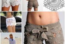 шорты, брюки вязаные
