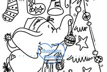 Christmas/ Winter digi stamps and inspiration