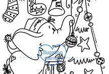Christmas/ Winter digi stamps and inspiration