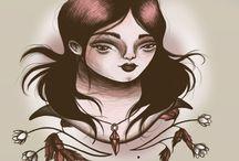 Anja Sturm: Random Girl Portrait Illustrations