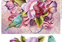 gül kuş çiçek