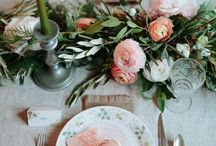 Tablescapes / A board to develop inspiration for different table layouts and decor for weddings and parties