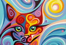 Cats / Art of cats by Christine Karron