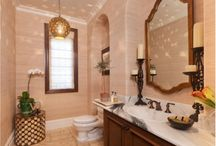 Upstairs bath and shower areas / Dante's room, F&N bath and upstairs guest bath / by Mimi Moonbeam