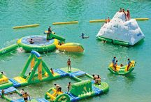 Inflatable Water Park / Check out this cool inflatable water park