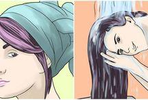 Telo, vlasy, rozne