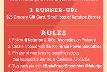 Brain Power Smoothies / #BrainPowerSmoothies  #Naturipe / by Carolyn Barnett
