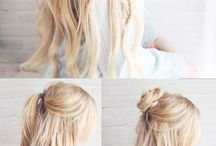 Hair Styles Tips / Don't be boring, do something with your hair, even if you don't feel like it!