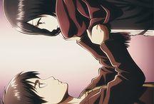 Eren and Mikasa ♥ / Shingeki no Kyojin couple ♥  Eren Jaeger ♥ Mikasa Ackerman