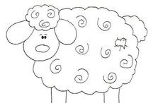 riscos de bordados ovelhas
