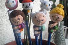 Crochet pencil topper