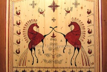 Мезенская роспись