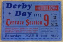 Kentucky Derby Ticket Stubs / A great look at ticket stubs from the Kentucky Derby. Click through to ticketstubcollection.com for winning eBay bids.