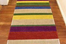 tapetes de crochê e patchwork