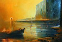 Surreal oil painting by Mariusz Lewandowski / Polskie malarstwo surrealistyczne Mariusza Lewandowskiego http://www.mariuszlewandowski.pl