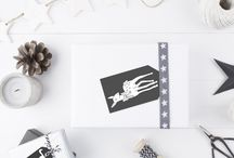 Til og Fra kort, Jul // Present Cards Christmas / Present Cards Christmas - PIY