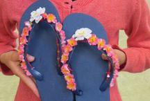 Flip Flops / slippers pimpen / simpele flip flops pimpen tot persoonlijke excemplaren