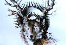Surreal Animal Ink Drawings