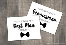 Groomsman Invitations / Our Will You Be My Groomsman cards are just the same! Ask them to be your Groomsman, Best Man, Usher, Junior Groomsman, Officiant, Ring Bearer, or Man of Honor.