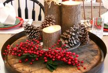 Rustic Christmas / I love Christmas and grew up in the countryside. Rustic Christmases are so beautiful!