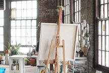 In-Home Art Studio / The next year of my life is going to involve a lot of painting, so it will involve a lot of lusting after personal studio space. Sharing the board because I know I am not the only one wishing for a dedicated place in the house to do art. / by J *