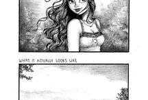 Cartoon life of a girl