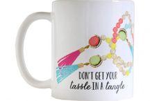 Coffee Mugs / Designed by Caroline Frierson of Sweet Caroline Designs. Available for wholesale, contact carolinefrierson@gmail.com