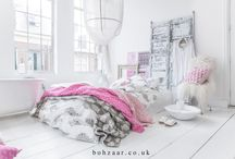 Bohemian Living & Bedroom / Create that Bohemian look in your home and bedroom, enjoy the Boho life.
