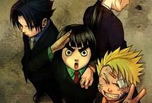 Naruto, rock lee, sasuke, and neji