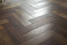 Parquet & Herringbone wood and porcelain tiles / Stunning parquet and Herringbone style flooring in both real hardwood and porcelain style tiles.  #herringbone #wood #porcelain #flooring