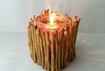 DIY Twig Candle Holder Ideas