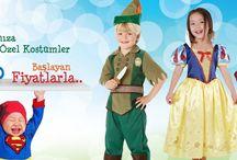 Kostümler / Partinin yıldızı sizin çocuğunuz olacak...