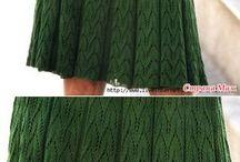 вязаное плать