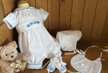 Boys Christening Outfits - Rompers. / A selection of romper style, boys christening outfits.