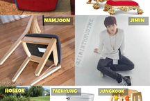 Bangtan chairs :D
