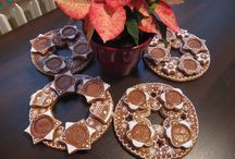 Advent / gingerbread advent wreaths