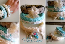 "Knitted Bracelets ""WINTER MOOD"" by VladiLena / See all collection @ Vladi Lena's FB page ""Handmade Jewellery & Art by VladiLena""