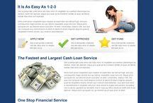 cash loan landing page design