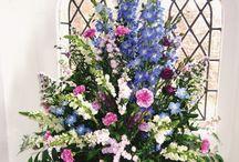 Church font flowers