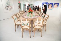 Art Gallery Gathering / A one-of-a-kind dinner held at the Onishi Art Gallery in Chelsea, NY.